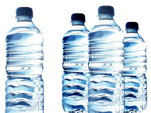 by drinking water from plastic bottles